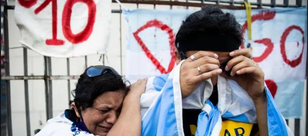 ادای احترام هواداران مارادونابه اسطوره آرژانتینی/ طرفداران دیگو: مارادونا همیشه دل ما را شاد کرده است