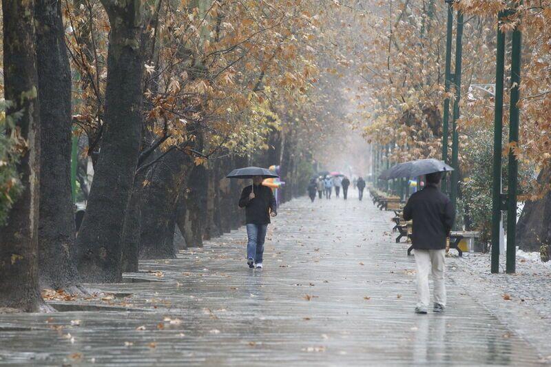 ماندگاری سامانه بارشی در همدان تا روز دوشنبه