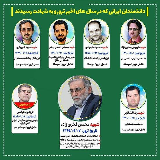 کدام دانشمندان ایرانی ترور شدند؟ + اینفوگرافی
