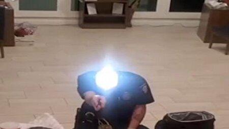 پلیسی که سر خود را به توپ درخشان تبدیل کرد + فیلم