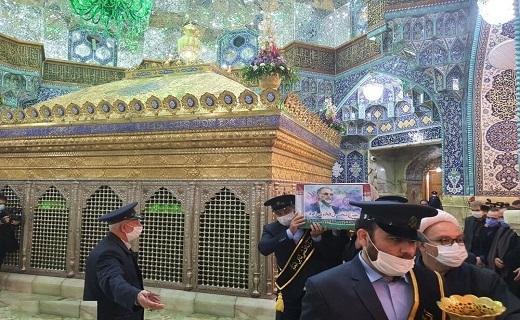 طواف پیکر شهید محسن فخری زاده در حرم حضرت معصومه (س)