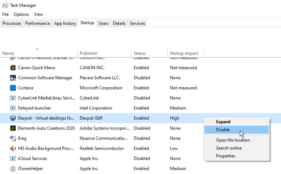 چگونه می توان برنامه های ویندوز 10 را هنگام راه اندازی متوقف کرد؟