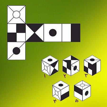 تست هوش/ تصویر تا شده مکعب کدام است؟
