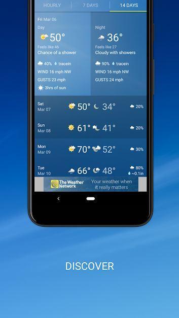دانلود اپ هواشناسی  Weather Network