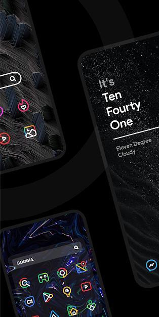دانلود آیکون پک نئونی NYON – Icon Pack  مخصوص اندروید