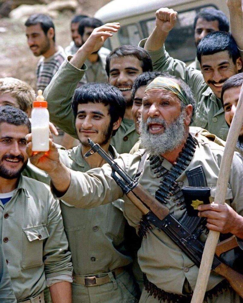 رجزخوانی یک رزمنده برای صدام حسین