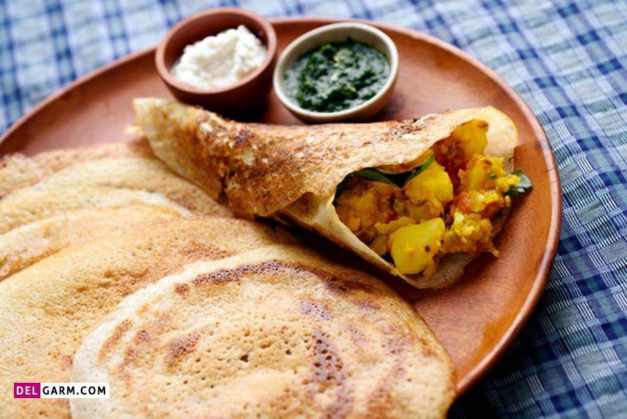 دستور پخت ماسالا دوسا هندی؛ تند و خوشمزه