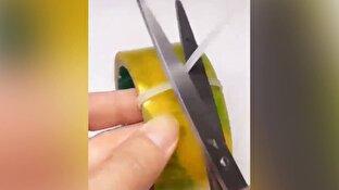 راه حل جالب برای استفاده آسان از چسب نواری + فیلم