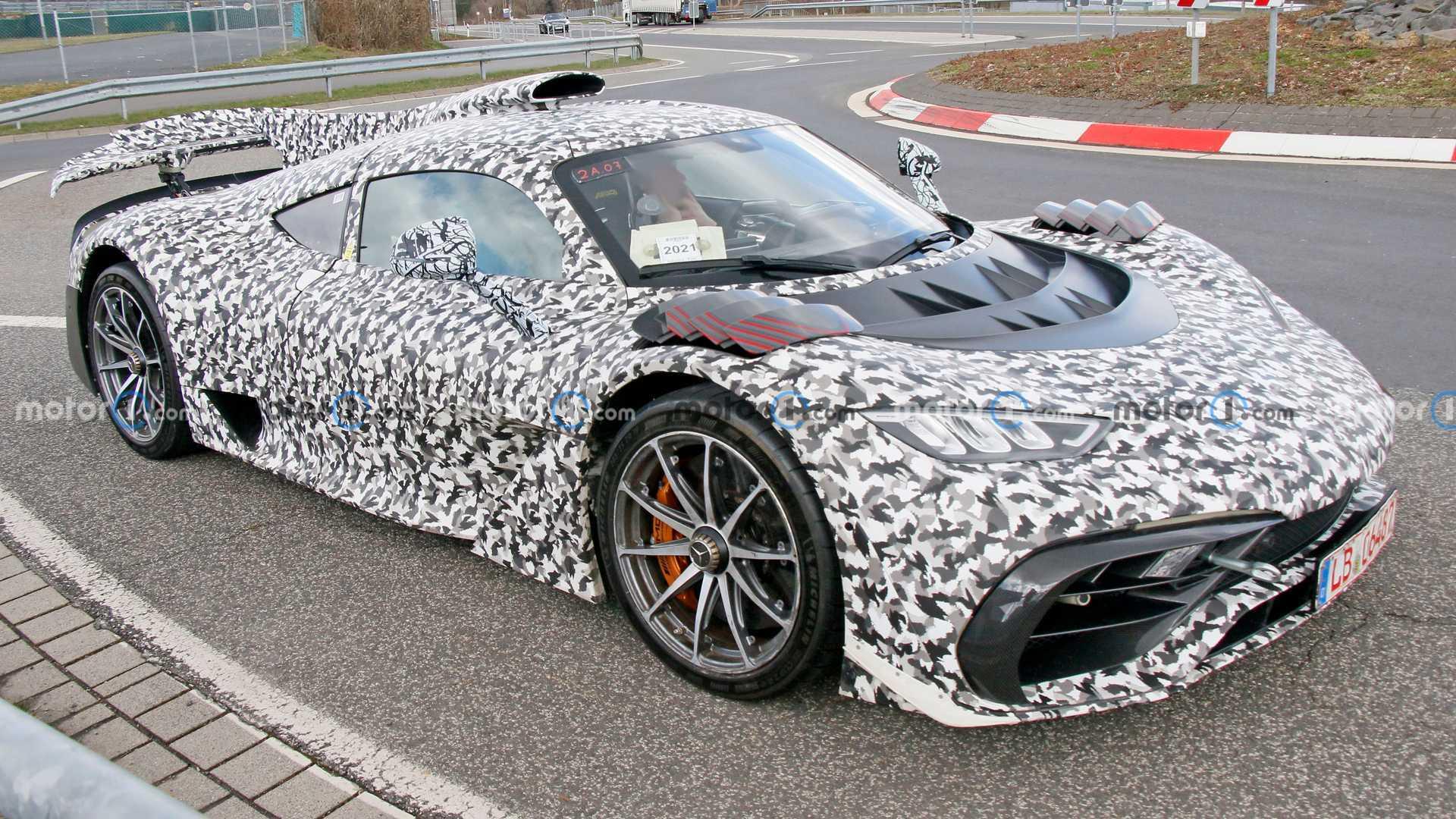 تصاویر جاسوسی Mercedes-AMG One مشخصات آن را لو داد