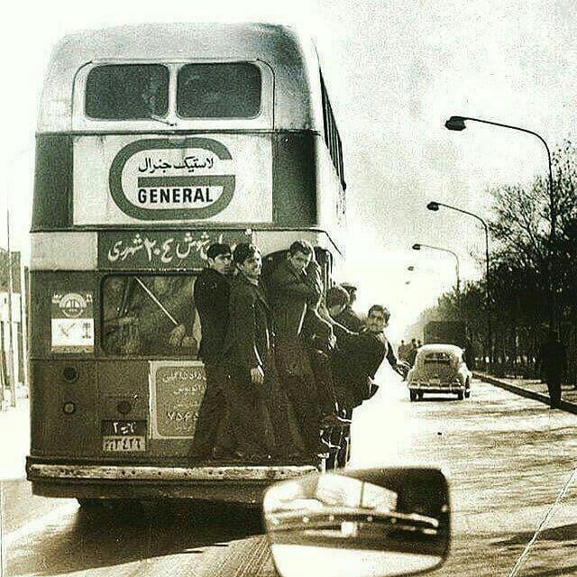 اتوبوس دو طبقه خط شوش شهرری سال ۱۳۴۲ و مسافران غیر مجاز
