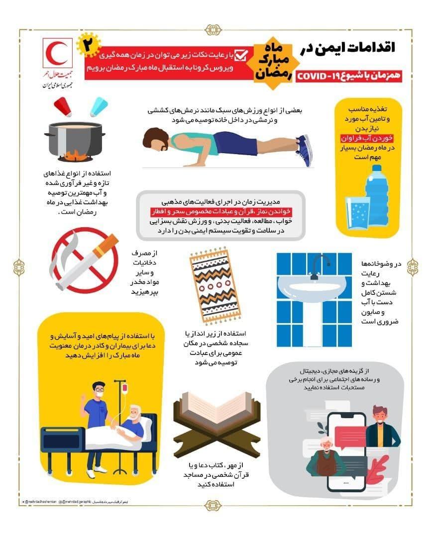 اتونشر/ اقدامات ایمن در ماه مبارک رمضان با وجود ویروس کرونا