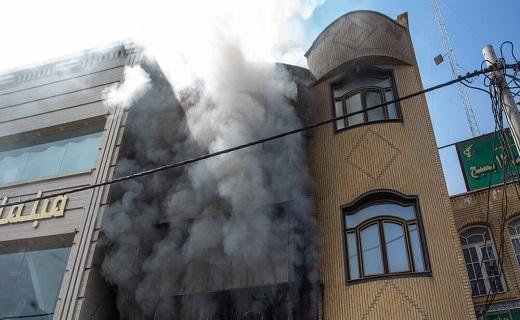 انفجار یک مغازه تعویض روغنی در قم +تصاویر