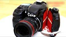 مراحل ساخت یک کیک تولد به شکل دوربین عکاسی + فیلم