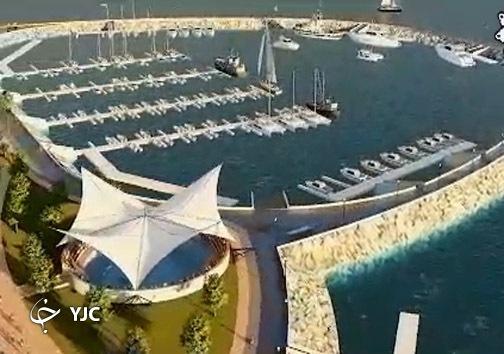 ساخت نخستین جزیره مصنوعی کشور در دریای خزر +تصاویر
