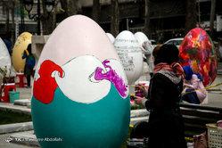 جشنواره تخم مرغ های رنگی در بوستان ملت