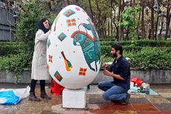 جشنواره تخم مرغ های رنگی در بلوار کشاورز