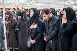 تشییع پیکر جانباز بهمن گلبارنژاد