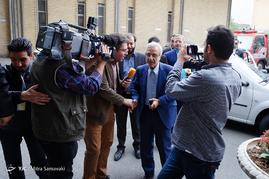 پشت صحنه ضبط برنامه مصطفی هاشمی طبا نامزد انتخابات ریاست جمهوری