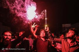 شادی مردم همدان پس از اعلام نتایج انتخابات ریاست جمهوری 96