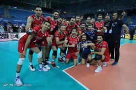 دیدار تیم های والیبال لهستان و ایران