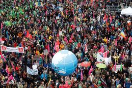 اعتراضات مردمی در هامبورگ آلمان به نشست گروه ۲۰