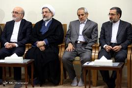 دیدار رئیس و مسئولان قوه قضائیه با رهبر معظم انقلاب