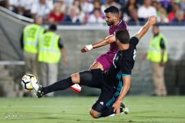 دیدار تیم های فوتبال رئال مادرید و منچسترسیتی