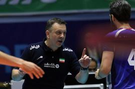 مسابقات والیبال انتخابی قهرمانی جهان بین تیم های ایران و چین - اردبیل