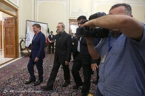 دیدار لاریجانی با ریس مجلس بلژیک