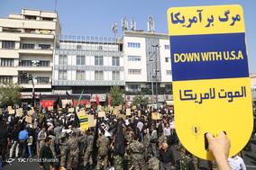راهپیمایی ضدآمریکایی نمازگزاران جمعه تهران