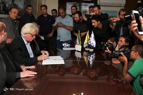امضاء قرارداد شفر با تیم فوتبال استقلال