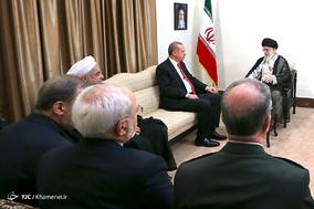 دیدار رئیس جمهوری ترکیه با مقام معظم رهبری