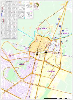 نقشه شهر کربلا