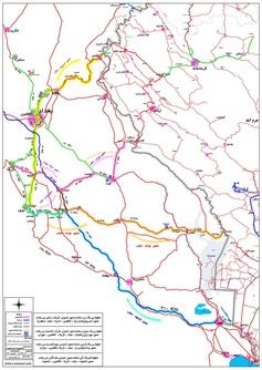 نقشه مسیرهای تردد زائران در کشور عراق