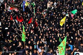 پیاده روی جاماندگان از اربعین در شیراز