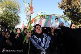 تشییع پیکر مطهر 5 شهید تازه تفحص شده دوران دفاع مقدس ناجا در شیراز