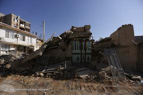 خسارات زلزله در محله فولادی های شهرستان سر پل ذهاب