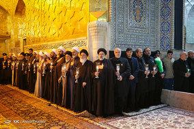 خطبه خوانی شب شهادت امام رضا (ع) در مشهد مقدس