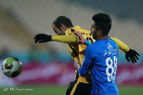 دیدار تیمهای فوتبال استقلال تهران و سپاهان اصفهان