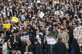 راهپیمایی نمازگزاران تهرانی در محکومیت اغتشاشات اخیر