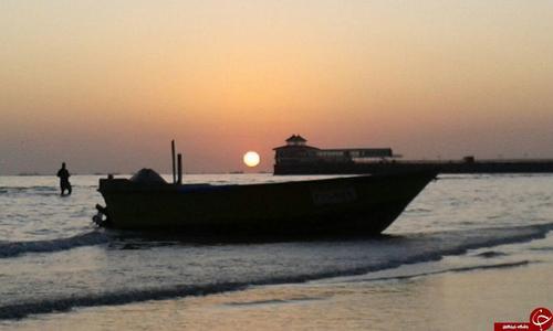 شهروندخبرنگار بندرعباس؛ غروب زیبای خورشید در ساحل بندرعباس + تصاویر