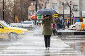 بارش باران در همدان