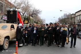 تشییع پیکر پاک ۲۴ شهید گمنام در شیراز