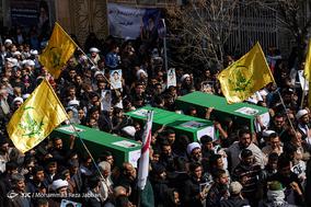 تشییع پیکر سه شهید جبهه مقاومت در قم