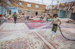 قالیشویی در آستانه نوروز