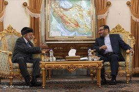 دیدار وزیر امور خارجه عمان با دبیرشورای عالی امنیت ملی