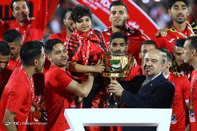 جشن قهرمانی تیم فوتبال پرسپولیس در لیگ برتر فوتبال