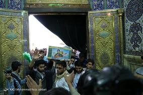 تشییع پیکر شهید مدافع حرم سالم صفرزاده - قم