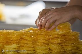 کارگاه پخت زولبیا و بامیه - همدان