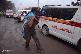 فوران آتشفشان فوئگو در گواتمالا
